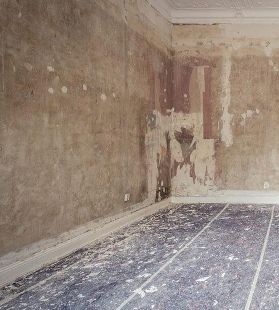 Pulimentos Francisco habitación en proceso de reparación